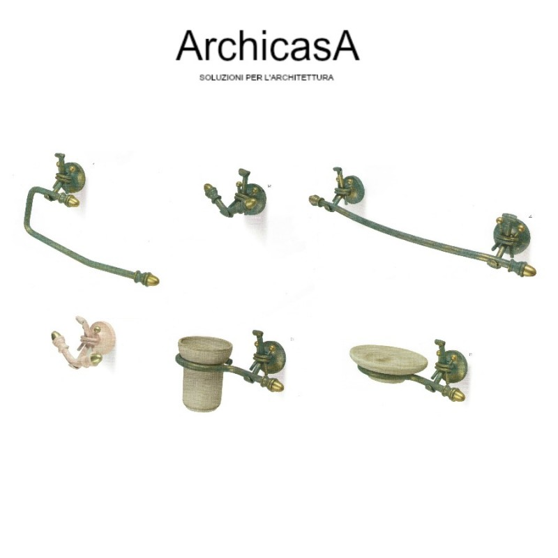 Ferro battuto accessori bagno arredo accessorio asta asciugamano archicasa salerno - Accessori bagno ferro battuto ...