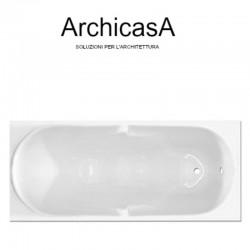Vasca glass lis 170x70 con pannelli
